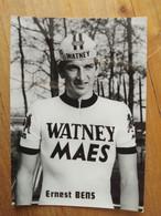 Cyclisme - Carte Publicitaire WATNEY MAES 1973 : BENS - Radsport
