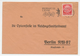 Card / Postmark Deutsches Reich / Germany 1936 Calendar City Lahr - Orologeria