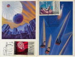 Soviet Union Russia 1972 2 Maximum Card Astronautics 15 Years Of The Space Age Rocket Launch Vehicle Vostok Venera Venus - Russia & URSS