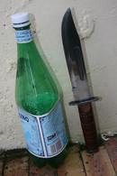 COUTEAU POIGNARD DE COMBAT STYLE US A IDENTIFIER LONGUEUR 30 CM, - Knives/Swords