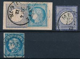 DX-753: FRANCE ALLEMAGNE: Lot Avec N°17 Obl Metz-17 + N°60 (France) Obl Metz- N°46B Obl Merzweiler (All) Du 17/7/7 - Autres - Europe