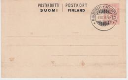 FINLAND USED POSTKORT 04/08/1918 - Paketmarken