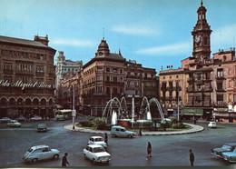 Renault R4,Fiat 600,850,2100,Omnibus,Valencia,Place De La Reine, Ungelaufen - Turismo