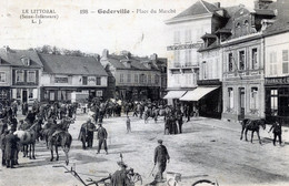 76  GODERVILLE  PLACE DU MARCHE ANIMEE - Goderville
