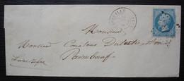 Aigrefeuille Loire Inférieure Gc 18 1867 Lettre Pour Paimboeuf - 1849-1876: Periodo Clásico