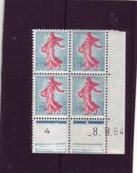 N° 1233 - 0,20 SEMEUSE DE PIEL - N De M+N - 3° Tirage Du 24.8 Au 1.10.64 - 8.09.1964 - - 1960-1969