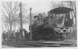 21- CPA Photo DIJON Locomotive Vapeur P.L.M - Dijon