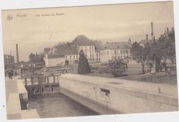 Menen - Les écluses Du Bassin (gelopen Kaart Met Feldpoststempel) - Menen
