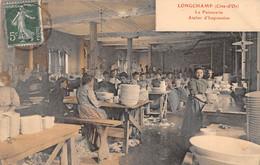 21- CPA LONGCHAMP La Faiencerie Atelier D Impression - Sonstige Gemeinden