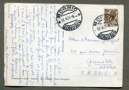 Stelvio - Dalle Sale Del Rifugio Albergo Monte Livrio - Affrancato BORMIO SONDRIO 1954. ITALIA - Sondrio
