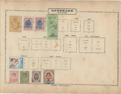 DANEMARK - TIMBRES FISCAUX + 1 PAGE DE FRAGMENTS ENTIERS POSTAUX - Steuermarken