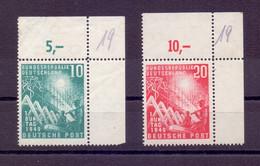 Bund BRD 1949 - MiNr 111/112 Postfrisch Eckrand Knicke - Michel 100,00 € (187) - Unused Stamps