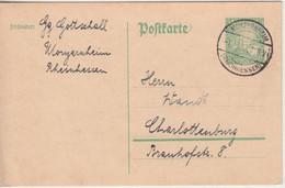 DR - 5 Pfg. 1000 J. Rheinland Sonderganzsache Monzernheim - Charlottenburg 1925 - Postwaardestukken