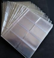 26 Feuilles Transparentes Pour Télécartes De 8 Poches Chacune Vendues 0.50€ Pièce - Supplies And Equipment