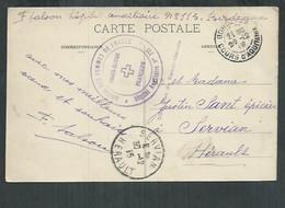 Cachet Croix Rouge Française Hopital Auxiliaire No 115 Union Des Femmes De Bordeaux (Gironde) - WW I