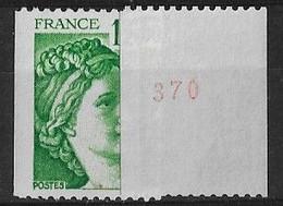 SABINE De GANDON ROULETTE N° 1981Aa** MNH - 1977-81 Sabine (Gandon)