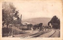 21- CPA POUILLY EN AUXOIS La Gare RARE - Sonstige Gemeinden