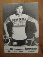 Cyclisme - Carte Publicitaire CONFORTLUXE CARPENTER FLANDRIA 1974 : GOOSSENS - Cycling