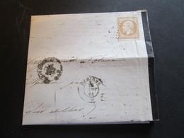 YT N°13B Seul Sur Lettre   CAD VENDOME [LOIR ET CHER] 28.01.1864 - 1849-1876: Klassieke Periode