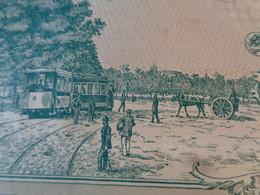 FRANCE - 37 - COMPAGNIE DES TRAMWAYS DE TOURS - ACTION D 100 FRS - PARIS 1898 - BELLE ILLUSTRATION - Unclassified