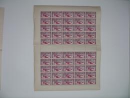 AEF  Feuille De 50 Ex. N° PA 2 Neuf ** Gomme Coloniale Plié En Deux Voir Scan - Neufs
