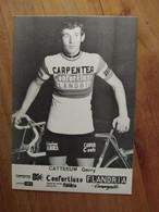Cyclisme - Carte Publicitaire CONFORTLUXE CARPENTER FLANDRIA 1974 : CATTEEUW - Cycling