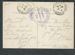 Cachet Hopital Complémentaire Plancoet-Crehen (Cotes D'armor) - Guerra Del 1914-18