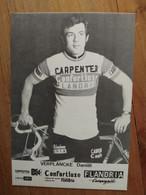 Cyclisme - Carte Publicitaire CONFORTLUXE CARPENTER FLANDRIA 1974 : VERPLANCKE - Cycling