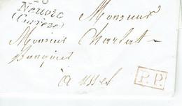 Neuvic 16 Corrèze PP Port Payé Lettre Du 21-01-1839 Pour Ussel - 1801-1848: Précurseurs XIX