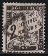 France 1881/92 Yvert Taxe 11 Oblitéré (2) (AD114) - 1859-1955 Used