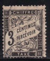 France 1881/92 Yvert Taxe 12 Oblitéré (AD114) - 1859-1955 Used