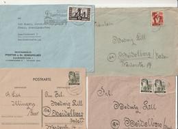 Saarland - Posten Mit 14 Briefen Und Eine Postkarte (1865-50) - Colecciones & Series