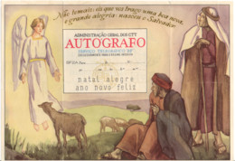 PORTUGAL TELEGRAMME DE NOEL OBLITERE TEIXOSO 1954 - Oblitérés