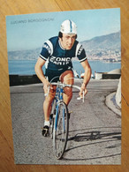 Cyclisme - Carte Publicitaire ZONCA SANTINI 1975 : BORGOGNONI - Cycling