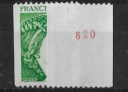 SABINE De GANDON ROULETTE N° 2103a** MNH N° Rouge - 1977-81 Sabine (Gandon)