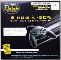 - Pochette CD ROM De Connexion Internet - FULL IS BEAUTIFUL - CLUB INTERNET - XBOX - - Kit Di Connessione A  Internet