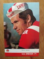 Cyclisme - Carte Publicitaire DREHER 1971 : Renzo BALDAN - Cycling