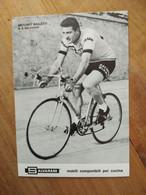 Cyclisme - Carte Publicitaire SALVARANI 1971 : Antonio BAILETTI - Cycling
