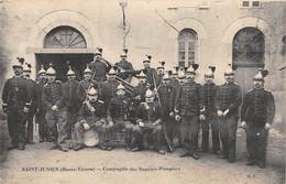 87-  CPA  SAINT JUNIEN Compagnie Des Sapeurs Pompiers RARE - Saint Junien