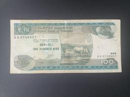 ETHIOPIE 100 BIRR 1997.look Back - Ethiopia