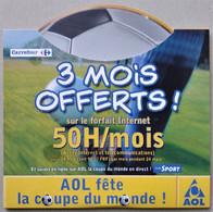 - Pochette CD ROM De Connexion Internet - AOL - Coupe Du Monde - Carrefour - - Kit Di Connessione A  Internet