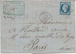 France LAC Nadaud Losange PC 167 Aubusson 14/09/61 / YT 14B - 1849-1876: Classic Period