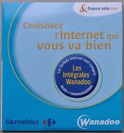 - Pochette CD ROM De Connexion Internet - WANADOO - Carrefour - - Kit Di Connessione A  Internet