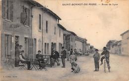 69 -  CPA SAINT BONNET DE MURE Route De Lyon RARE - Sonstige Gemeinden