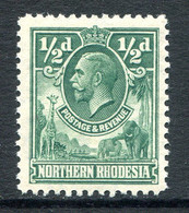 Northern Rhodesia 1925-29 KGV - ½d Green MNG (SG 1) - Rhodésie Du Nord (...-1963)