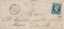Hiersac (Charente) : LSC (incomplète), TàD 15, PC 1519 Sur N°14, Origine Rurale De L'Habit, 1862. - 1849-1876: Periodo Clásico
