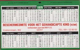 Sticker Autocollant Kalender Calender Calendrier Voskenslaan GENT 1979 Beschermcomite Voor Het Gehandicapte Kind - Autocollants