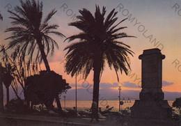 CARTOLINA  REGGIO CALABRIA,CALABRIA,TRAMONTO SUL LUNGOMARE,SOLE,SPIAGGIA,VACANZA,BELLA ITALIA,ESTATE,VIAGGIATA 1981 - Reggio Calabria