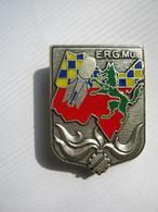 INSIGNE ERGMu ETABLISSEMENT DE RESERVE GENERALE DE MUNITIONS LEYMENT Y. DELSART ETAT EXCELLENT - Esercito