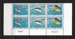NOUVELLE CALEDONIE (New Caledonia) - Coin Daté - YT 1096-1098 - 2010 - Poissons- Thon- Wahoo- Mahi Mahi - Fish -tuna - Sin Clasificación
